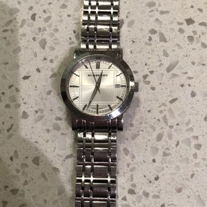 Burberry Accessories - Men's Burberry silver watch
